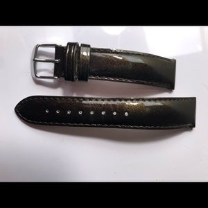 Michele patent leather watch strap